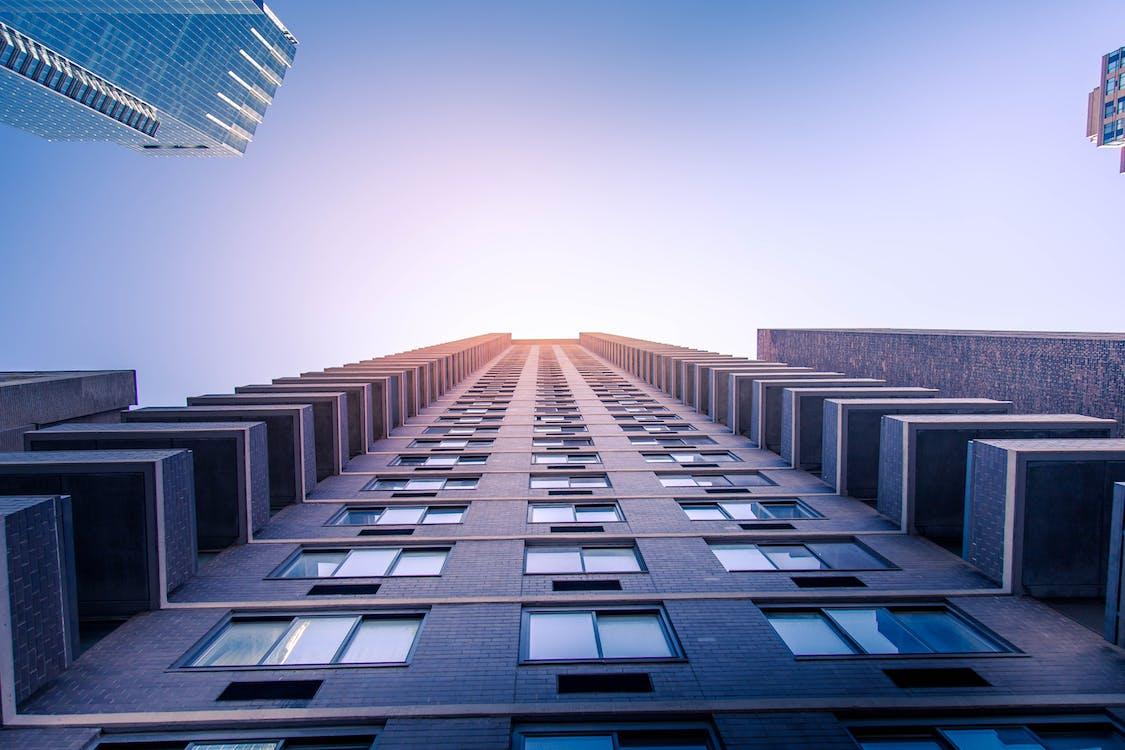 architektur, außen, bürogebäude