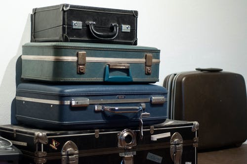 Free stock photo of blue, brown, suitcase, vintage