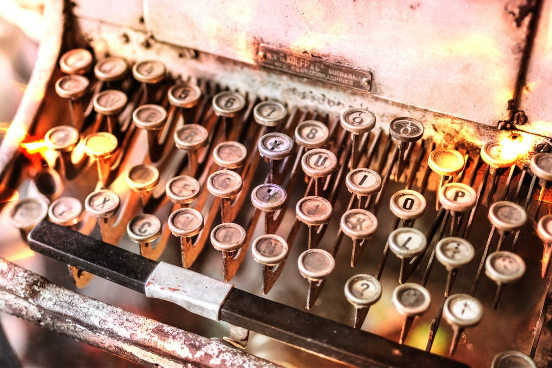 antyczny, klawiatura, makro