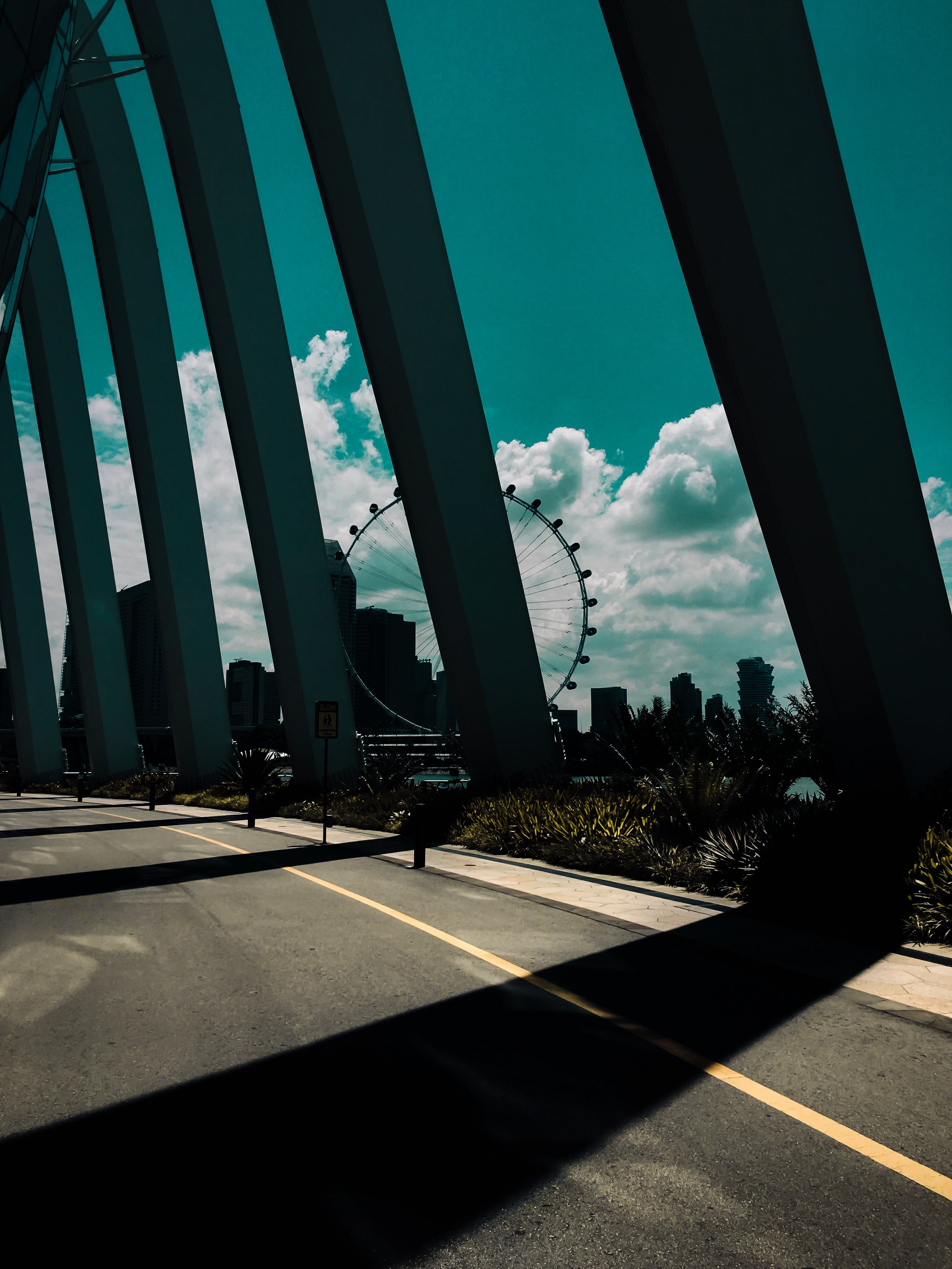 Black Metal Pillar Bridge