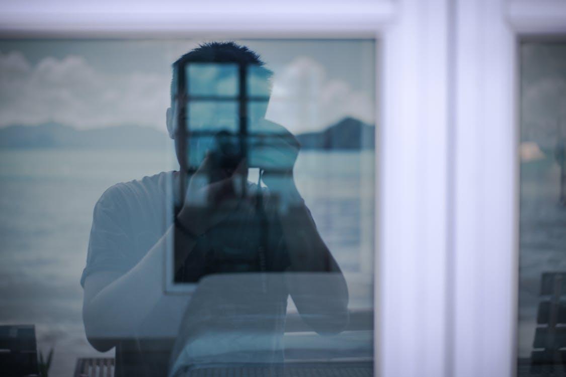 กระจก, กระจกเงา, กล้อง