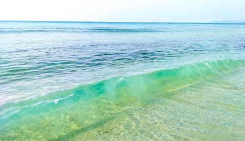 Free stock photo of aurora, auroraph, beach, blue green sea