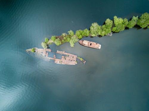 Gratis lagerfoto af både, bugt, dagslys, droneoptagelser
