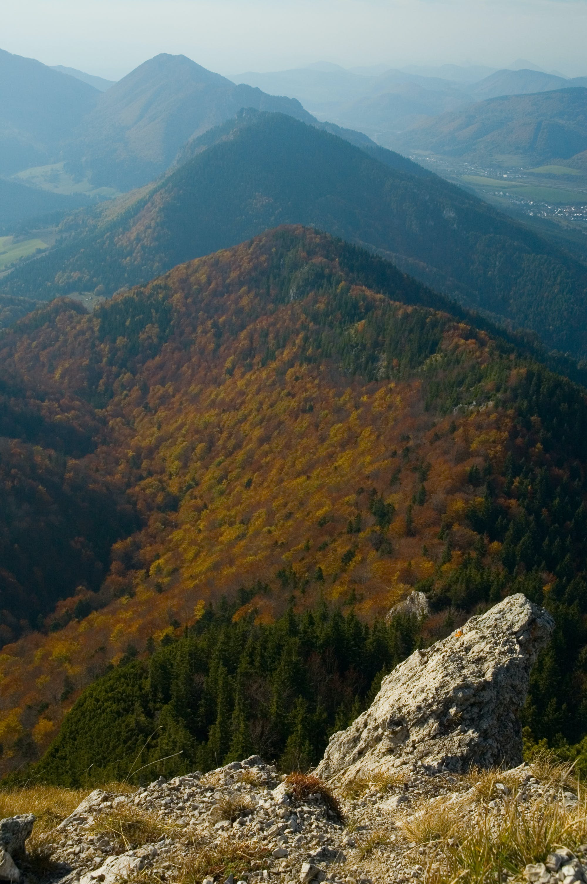Aerial View on Mountain