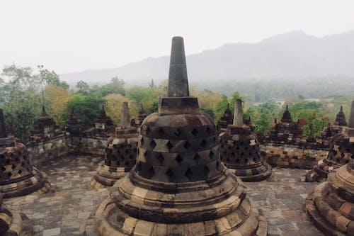 Gratis stockfoto met bergen, bewolking, boeddhistische tempel, Bos