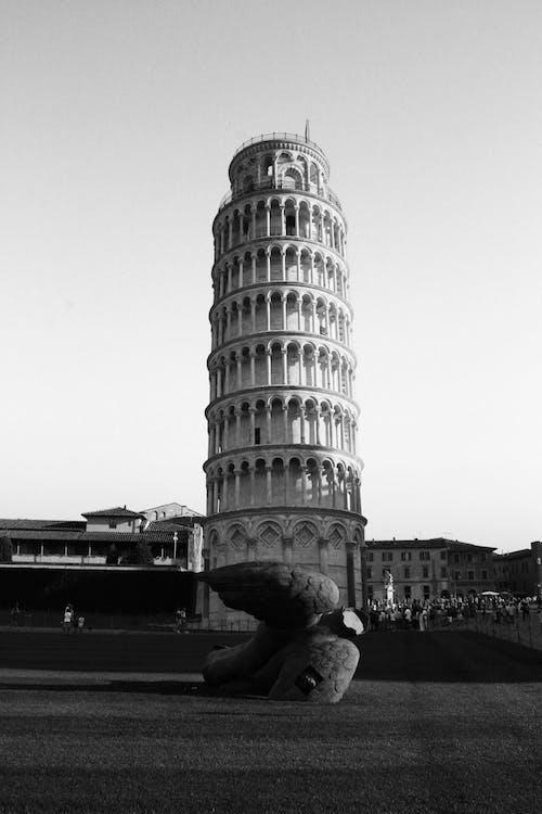 Základová fotografie zdarma na téma architektura, budova, černobílá, cestovní ruch