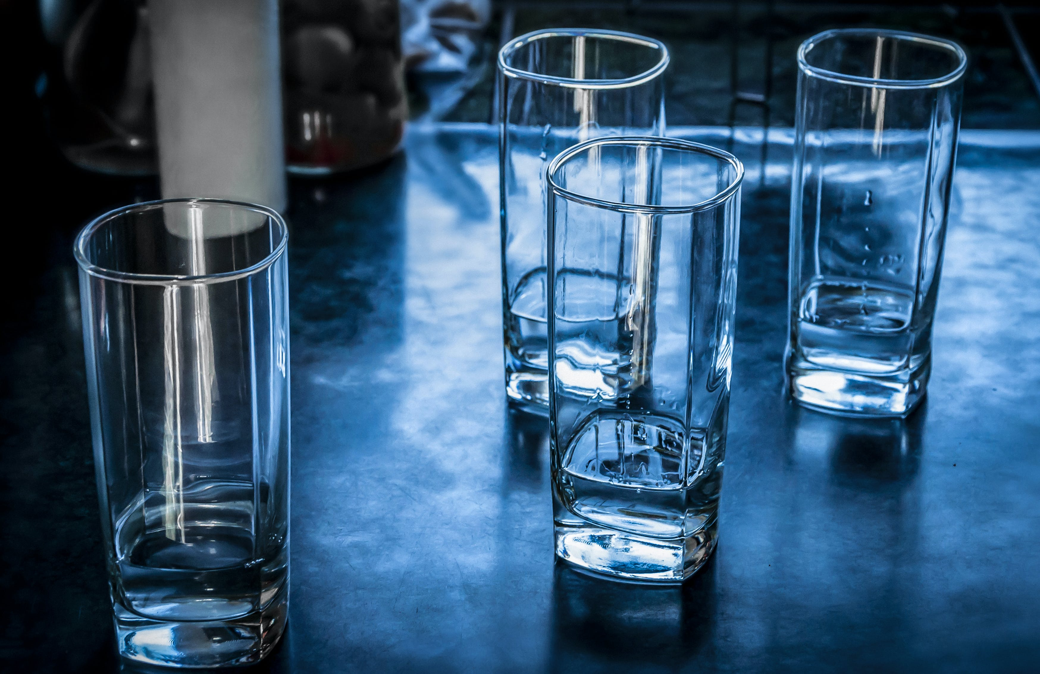Free stock photo of alcohol, blue, drinking glass, drinks