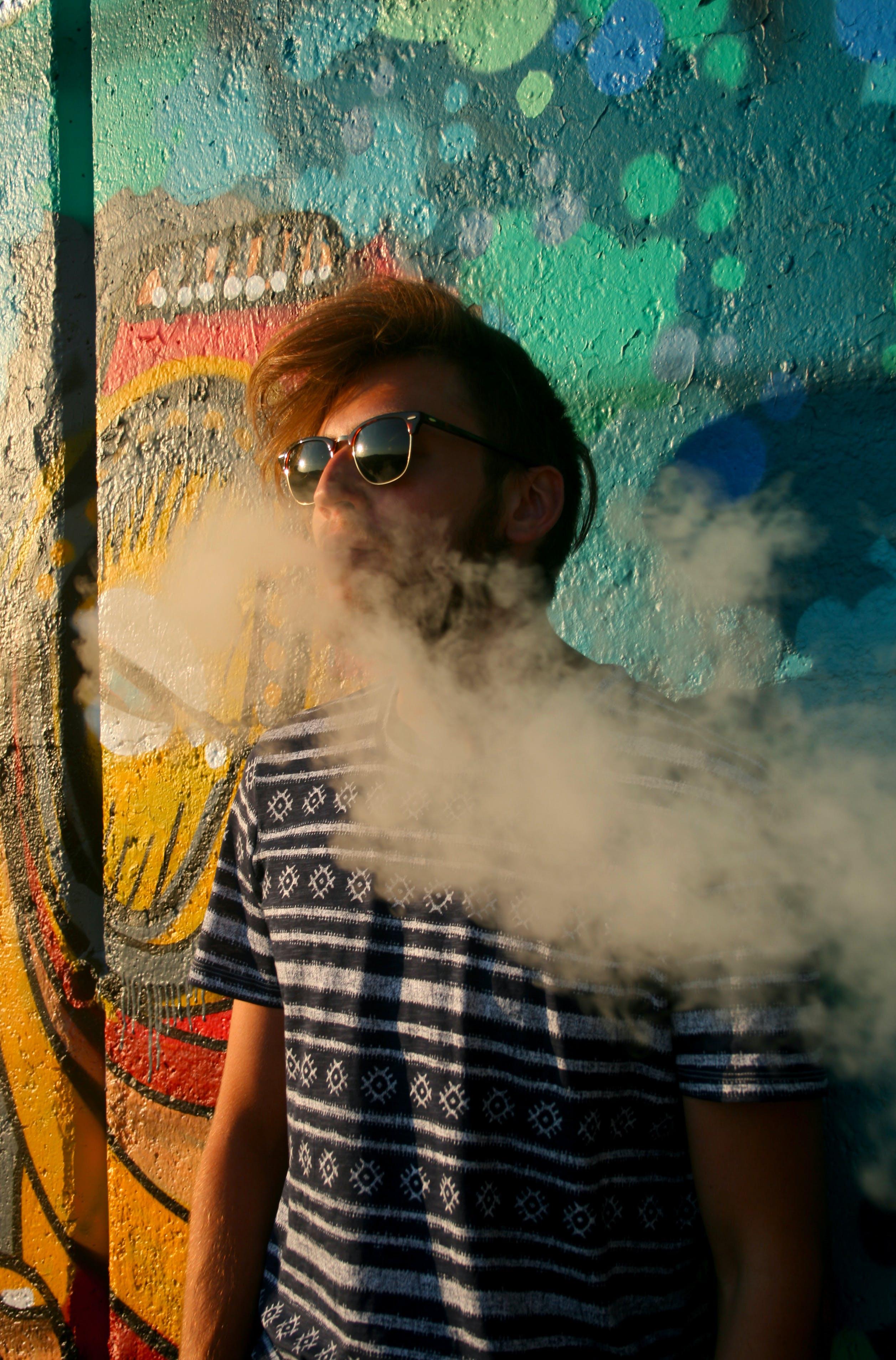 Free stock photo of graffiti, guy, man, smoke