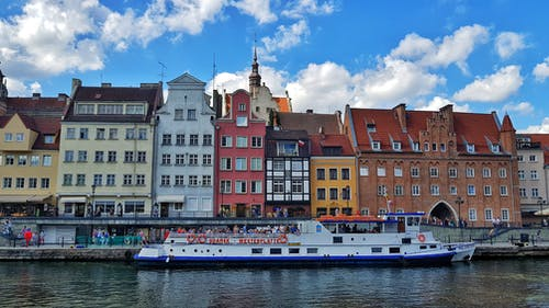 Free stock photo of architecture, boat, city, gdansk