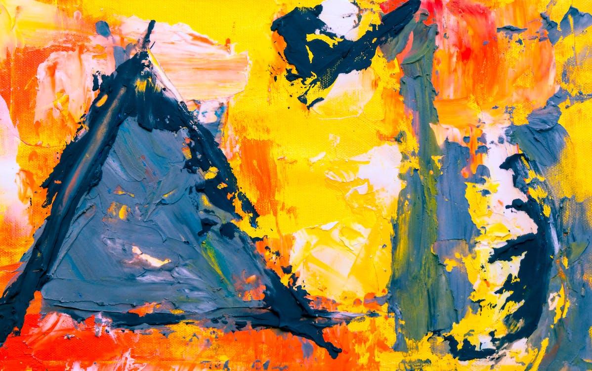 abstrait, acrylique, arrière-plan