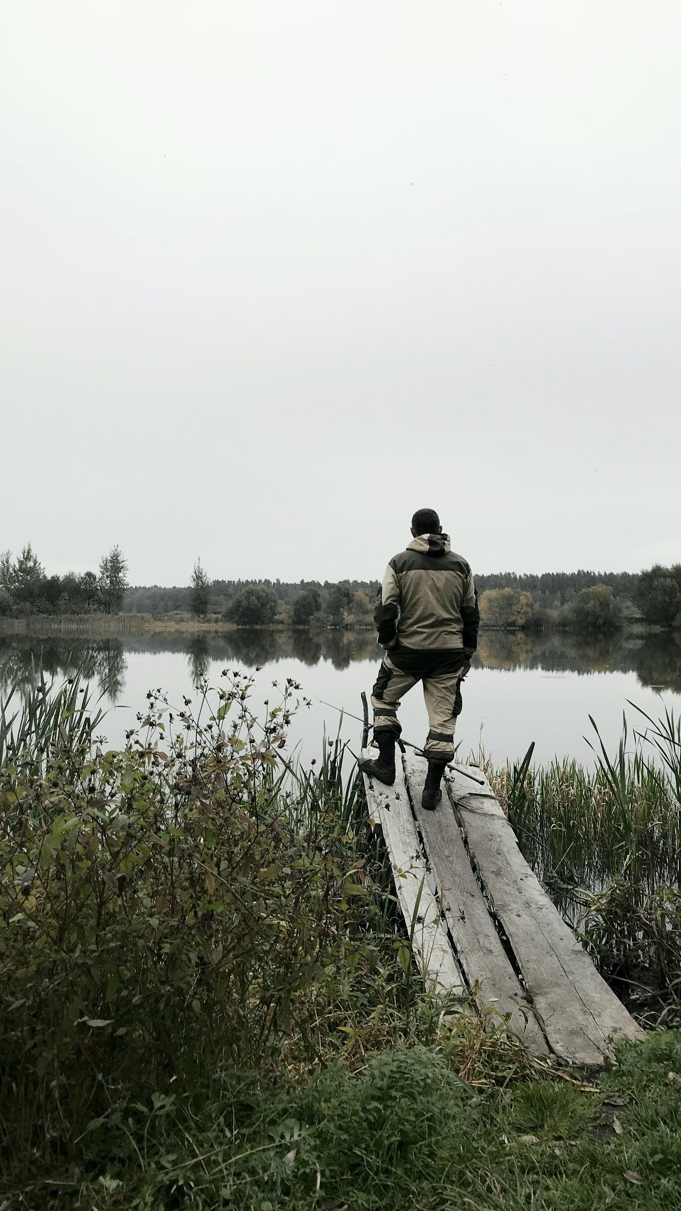 Free stock photo of android wallpaper, autumn, fisherman, fishing