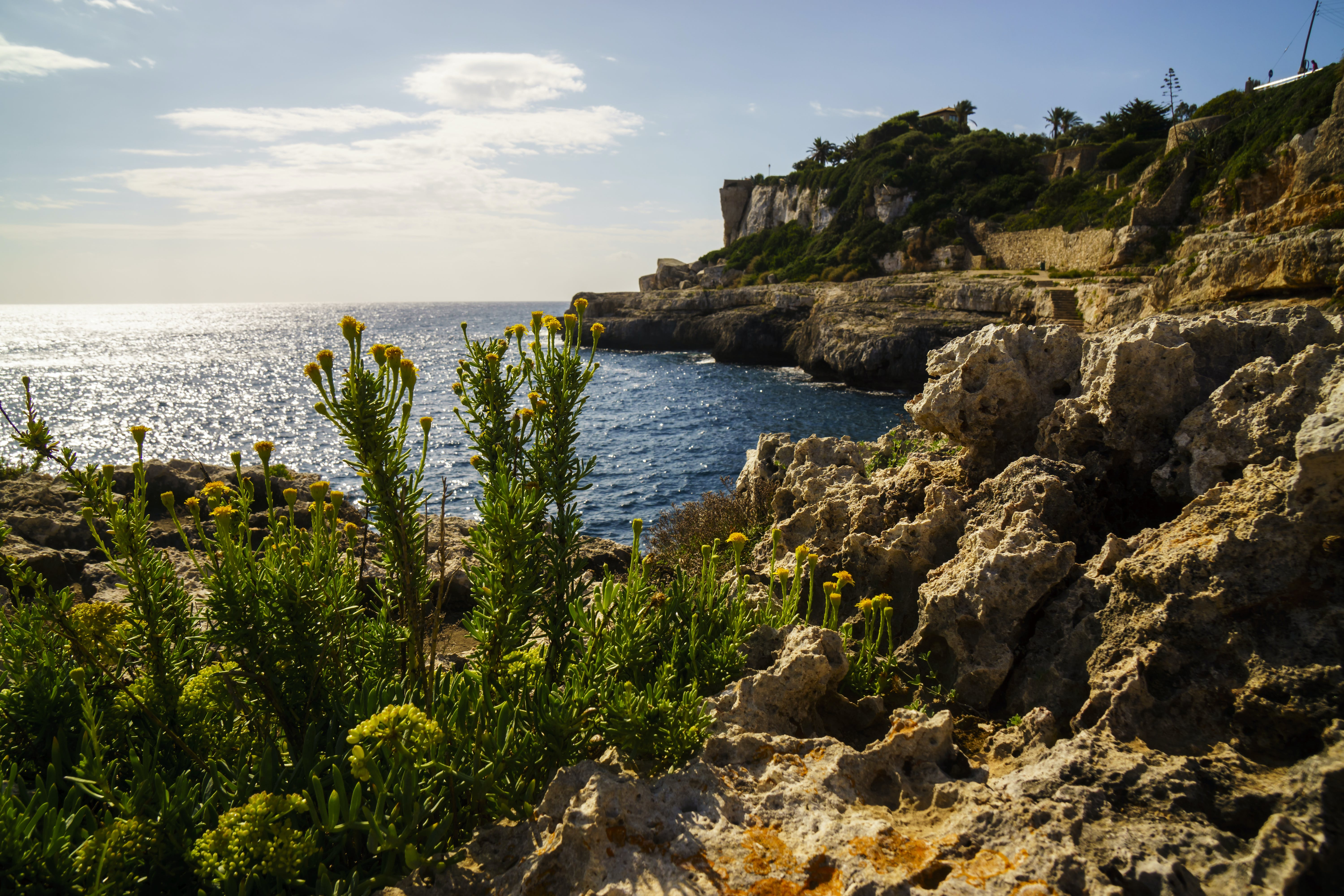 Cliff and Body of Water Landscape Photography