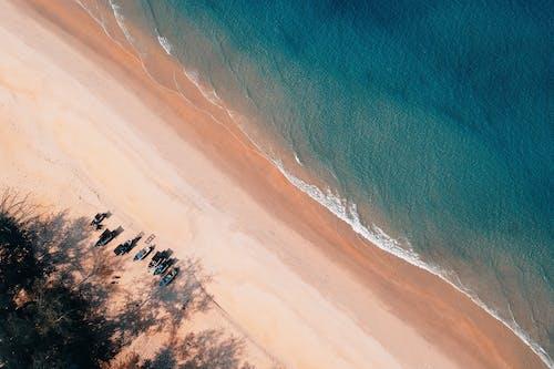 Aerial Photo of Seashore With Calm Sea