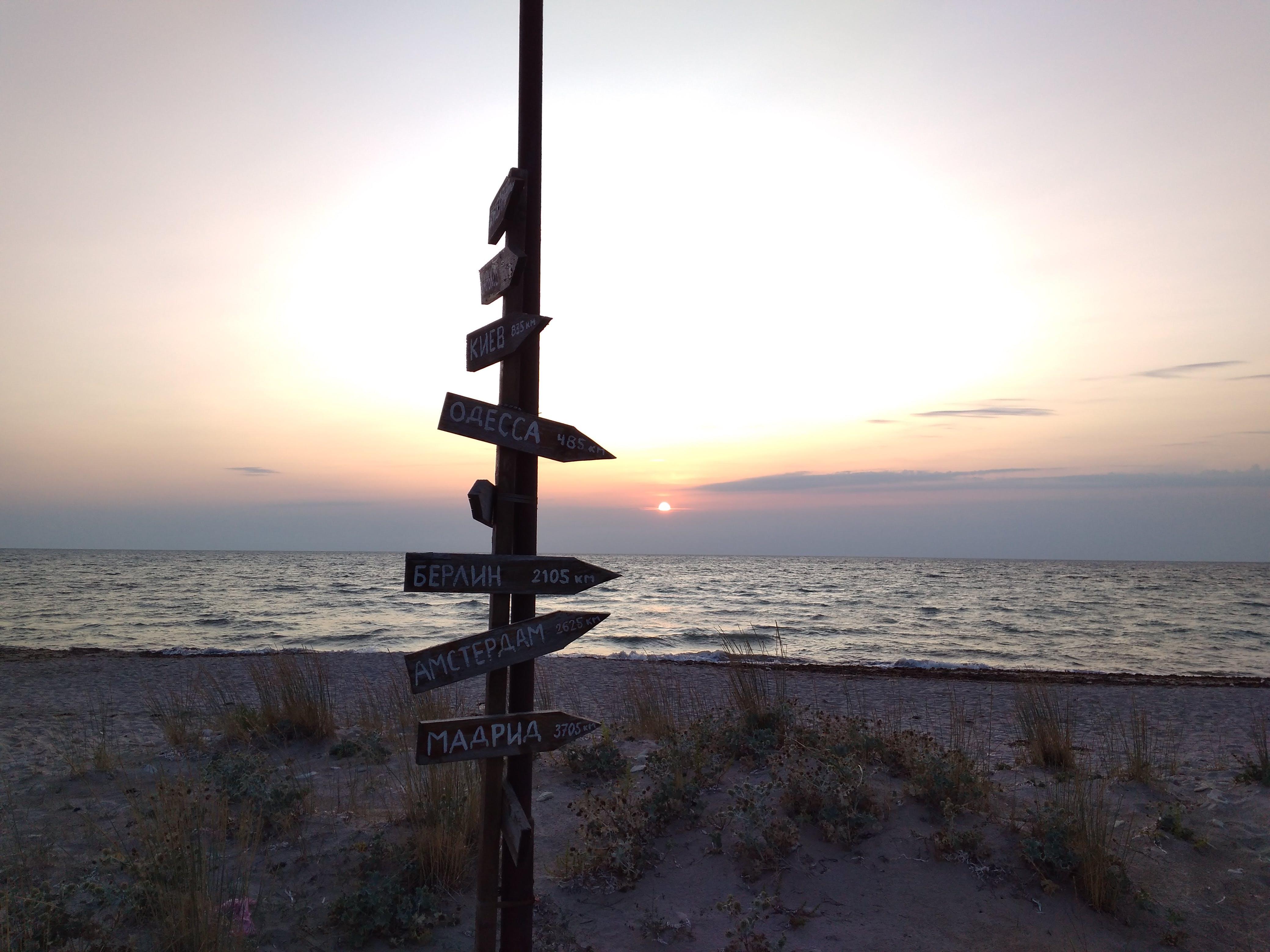 Foto stok gratis laut Hitam, matahari terbenam, pantai, plang