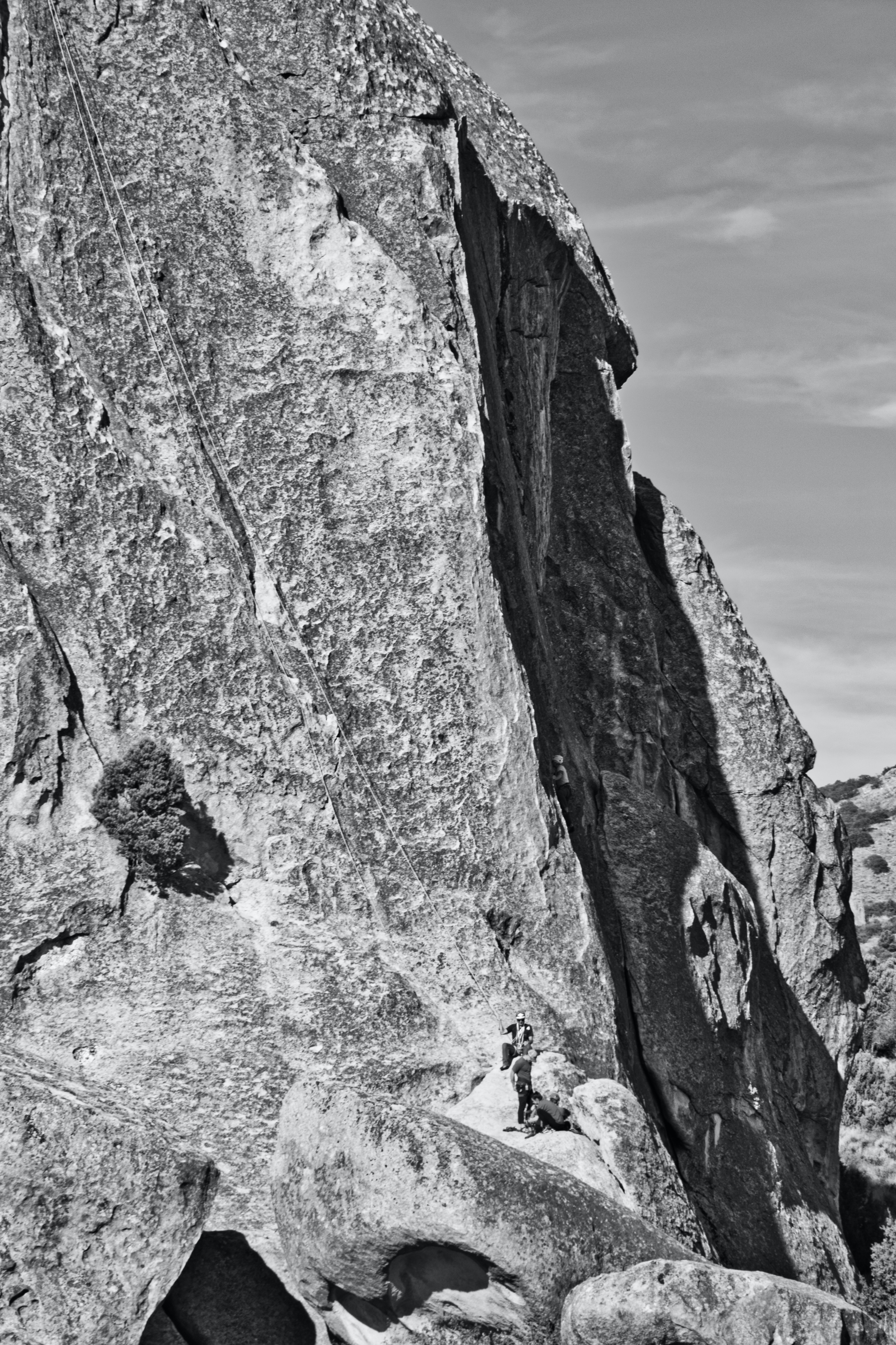 Free stock photo of black and white, national park, rock climbing
