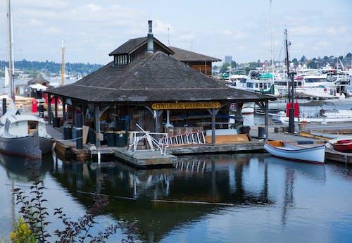 Free stock photo of boathouse, boats, marina, ocean