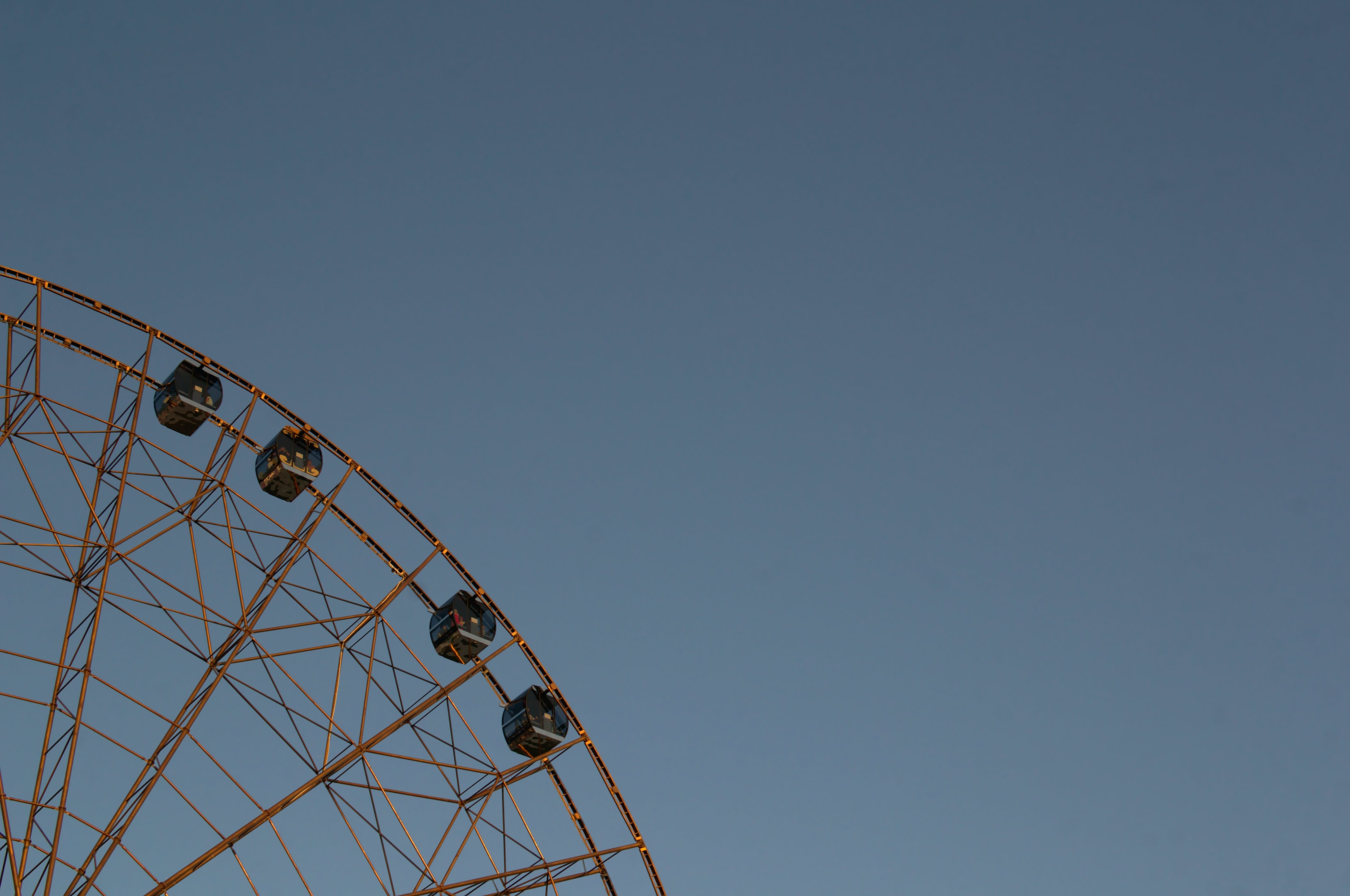 Foto stok gratis kincir ria, langit cerah