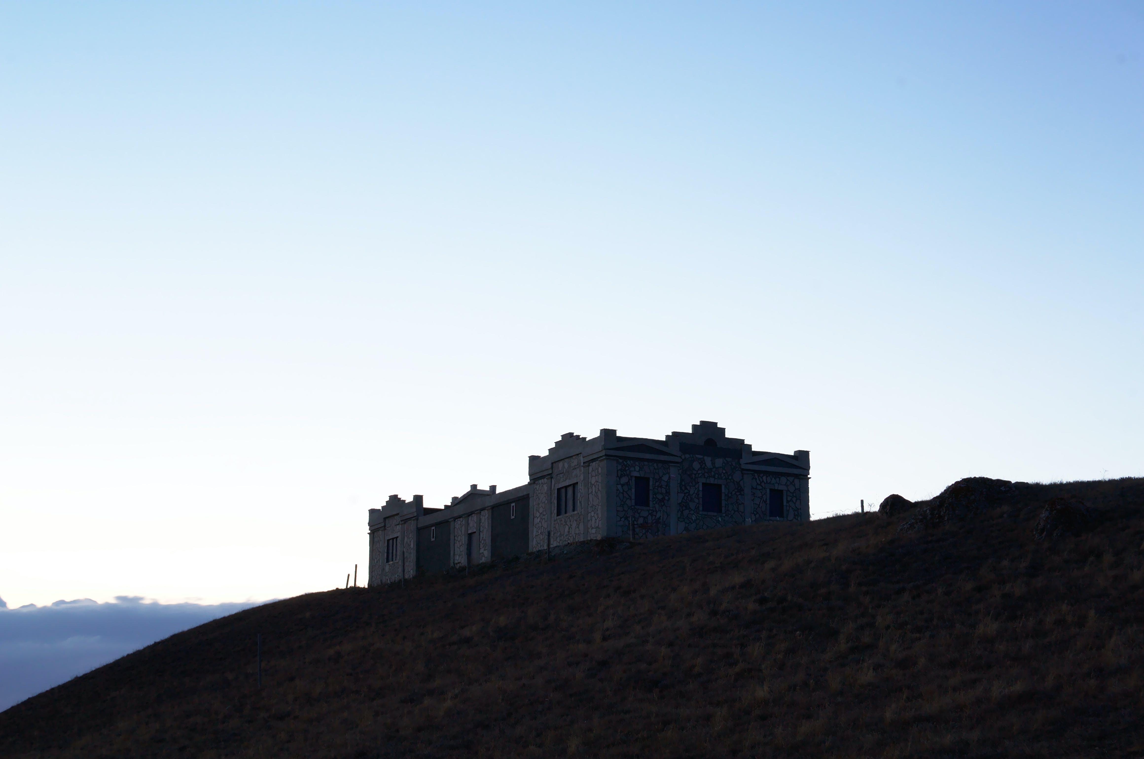 Foto stok gratis gunung, Kastil, matahari terbenam