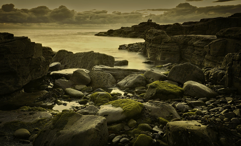 Základová fotografie zdarma na téma dlouhá expozice, fotografie, horizont, kameny