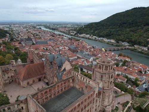 Бесплатное стоковое фото с heidelberg, германия, город, дрон