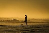 sea, landscape, sunset