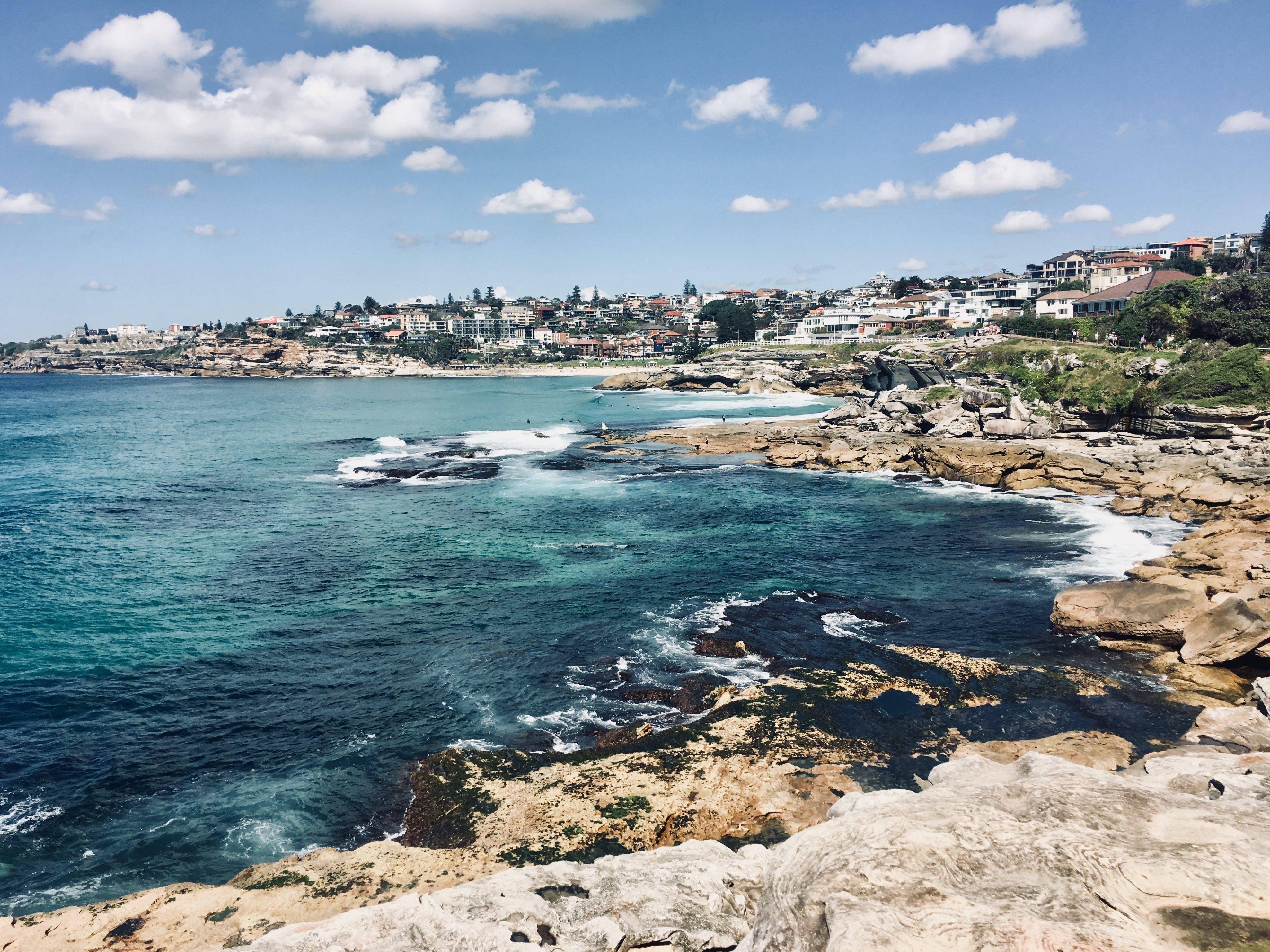 Free stock photo of beach, blue water, cliffs, coast