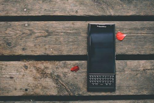 スマートフォン, デバイス, ブラックベリー, 上からの無料の写真素材