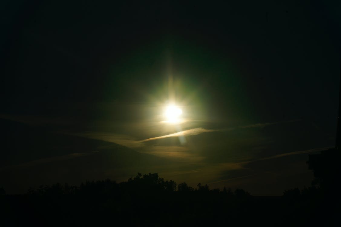 langit, matahari, matahari terbenam