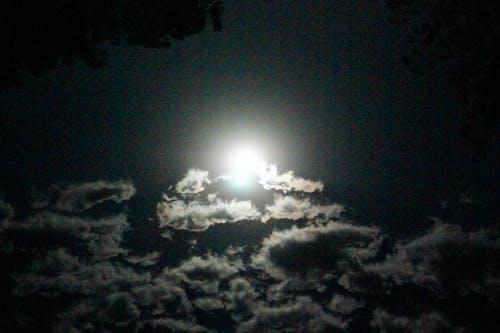 Foto stok gratis awan, bulan, langit