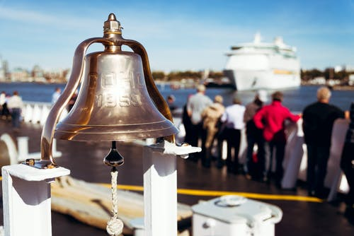 Free stock photo of bell, brass, cruise ship, day
