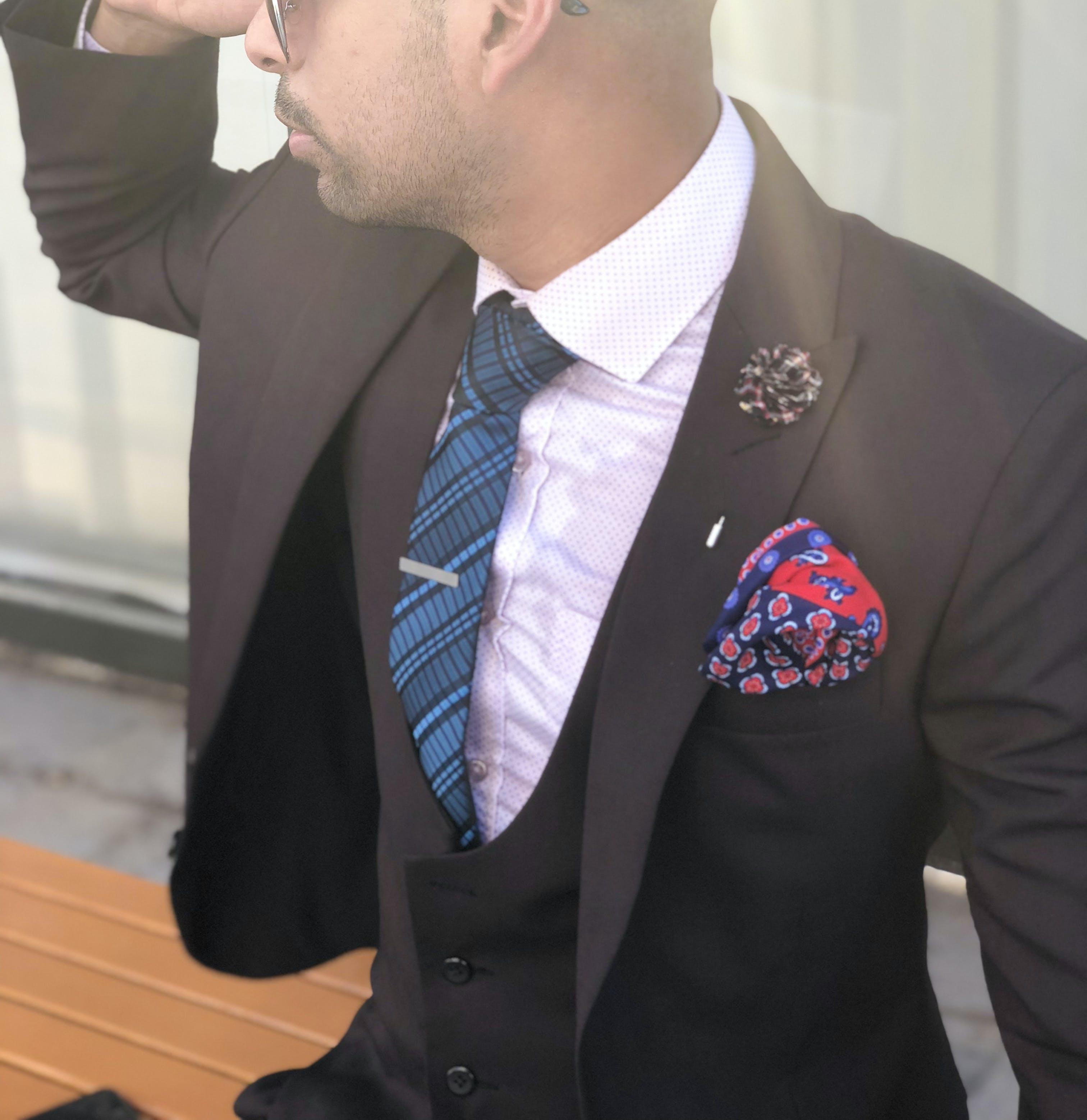 Man in Black Suit Jacket