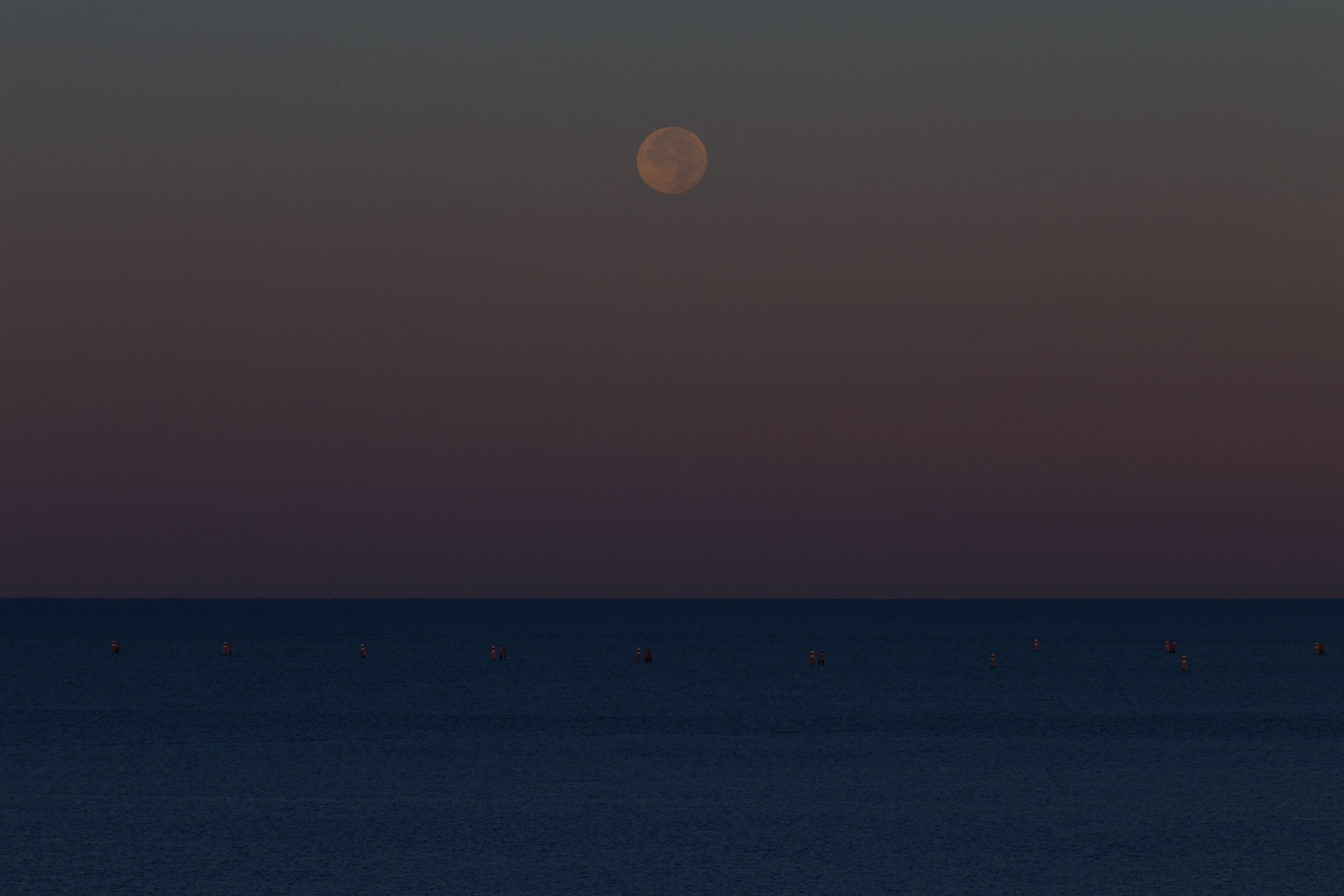 adriaterhavet, blå, blodmåne
