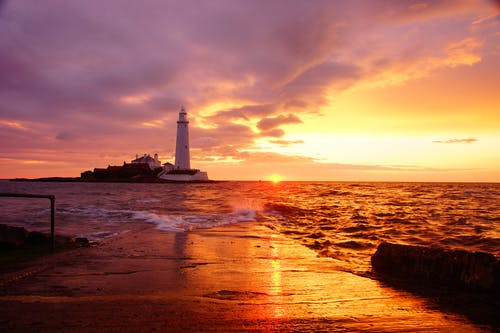 Lighthouse During Sunset