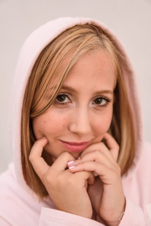 Photo Of Woman In Pink Hoodie