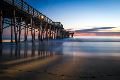 Immagine gratuita di acqua, banchina, cielo, litorale