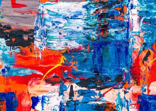 丙烯酸塗料, 丙烯酸樹脂, 帆布, 抽象繪畫 的 免費圖庫相片