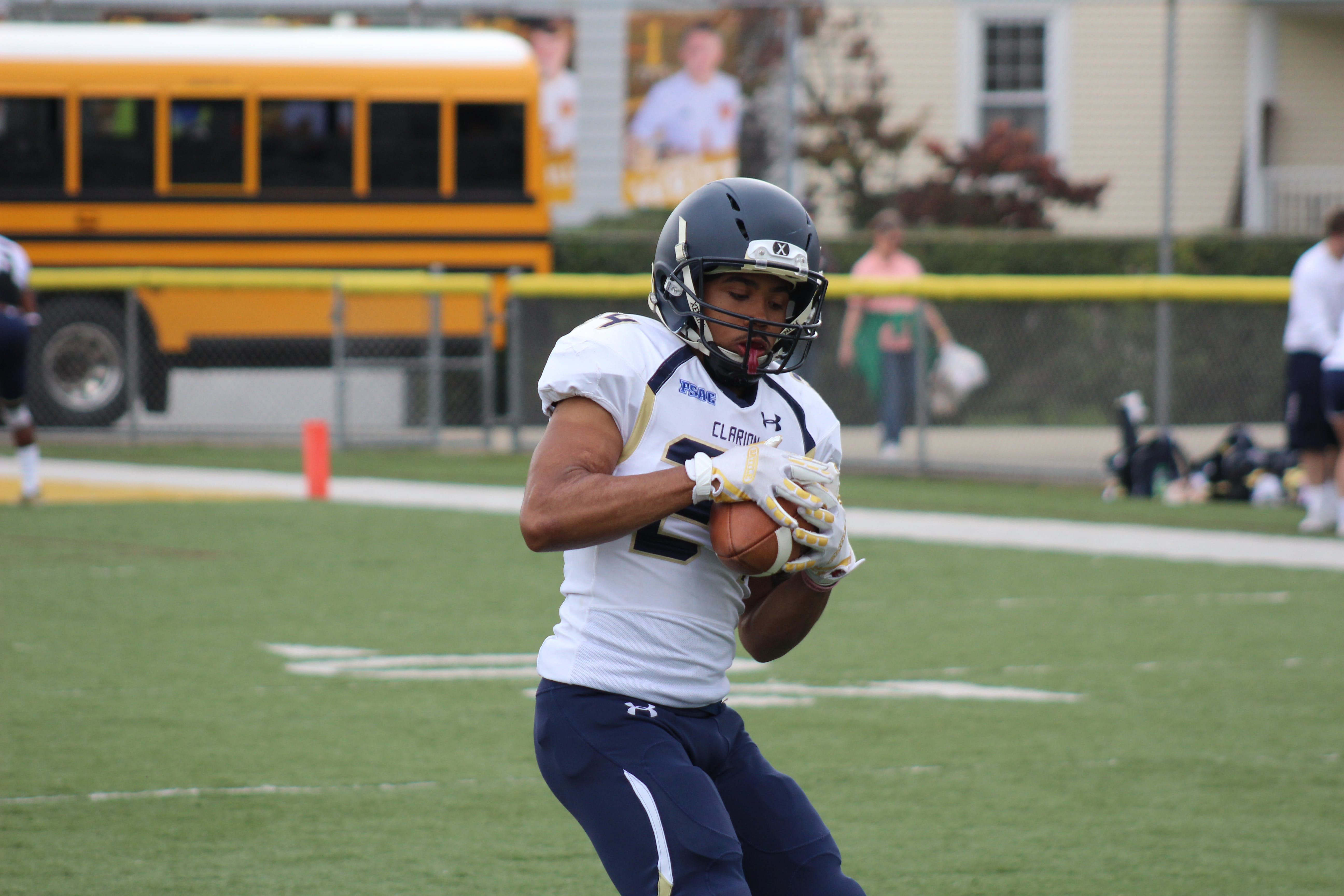 Shallow Focus Photography of Football Player