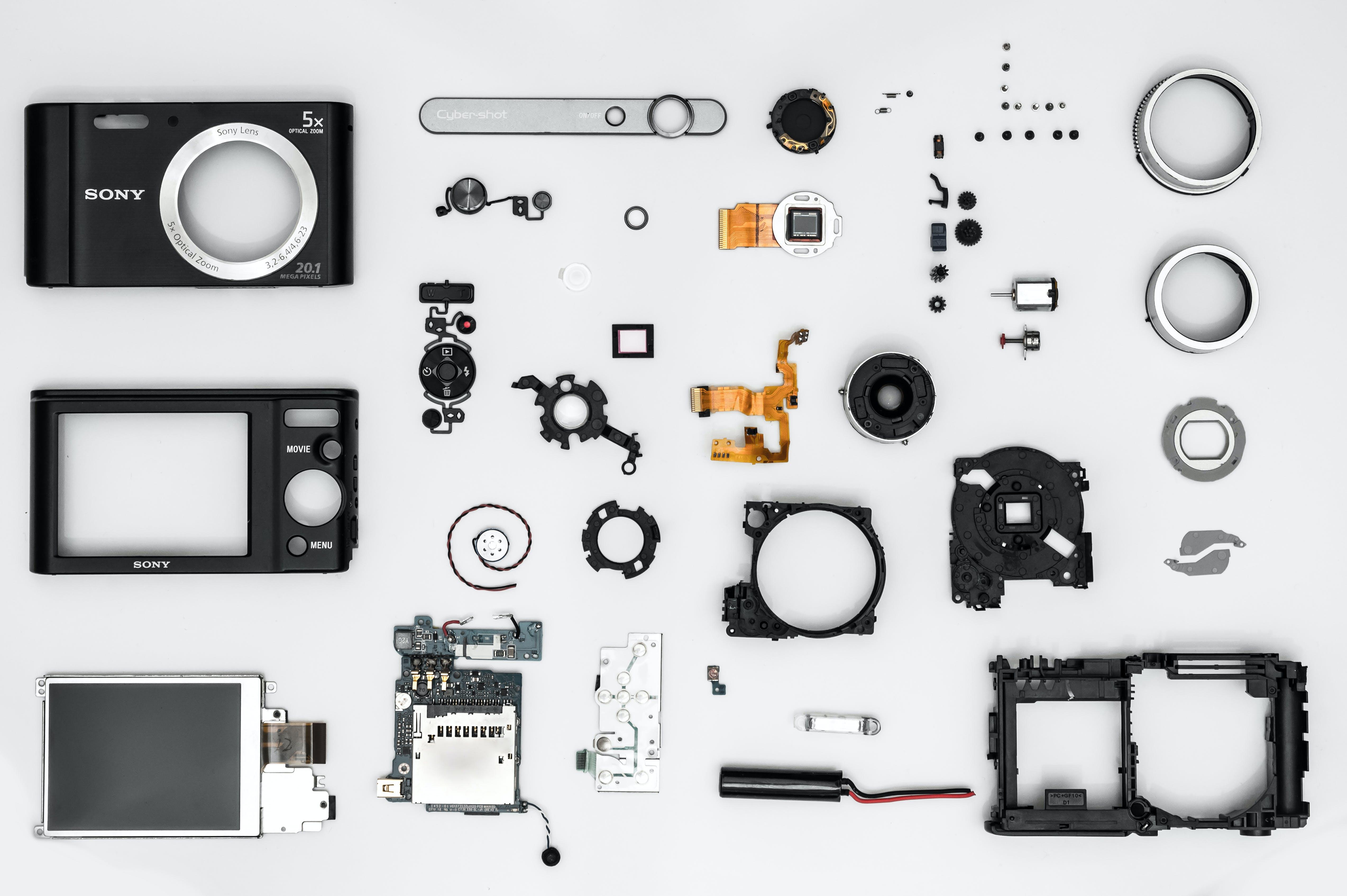 Black Camera Accessory Lot
