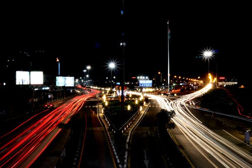 Free stock photo of canon, car lights, light trail, light trails