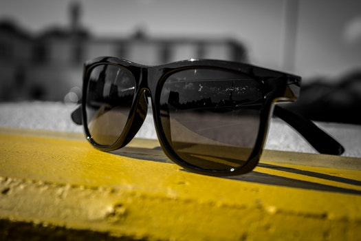 Free stock photo of fashion, sunglasses, yellow, glass