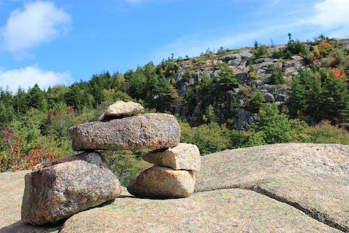 Free stock photo of mountain, rock balancing, rocks