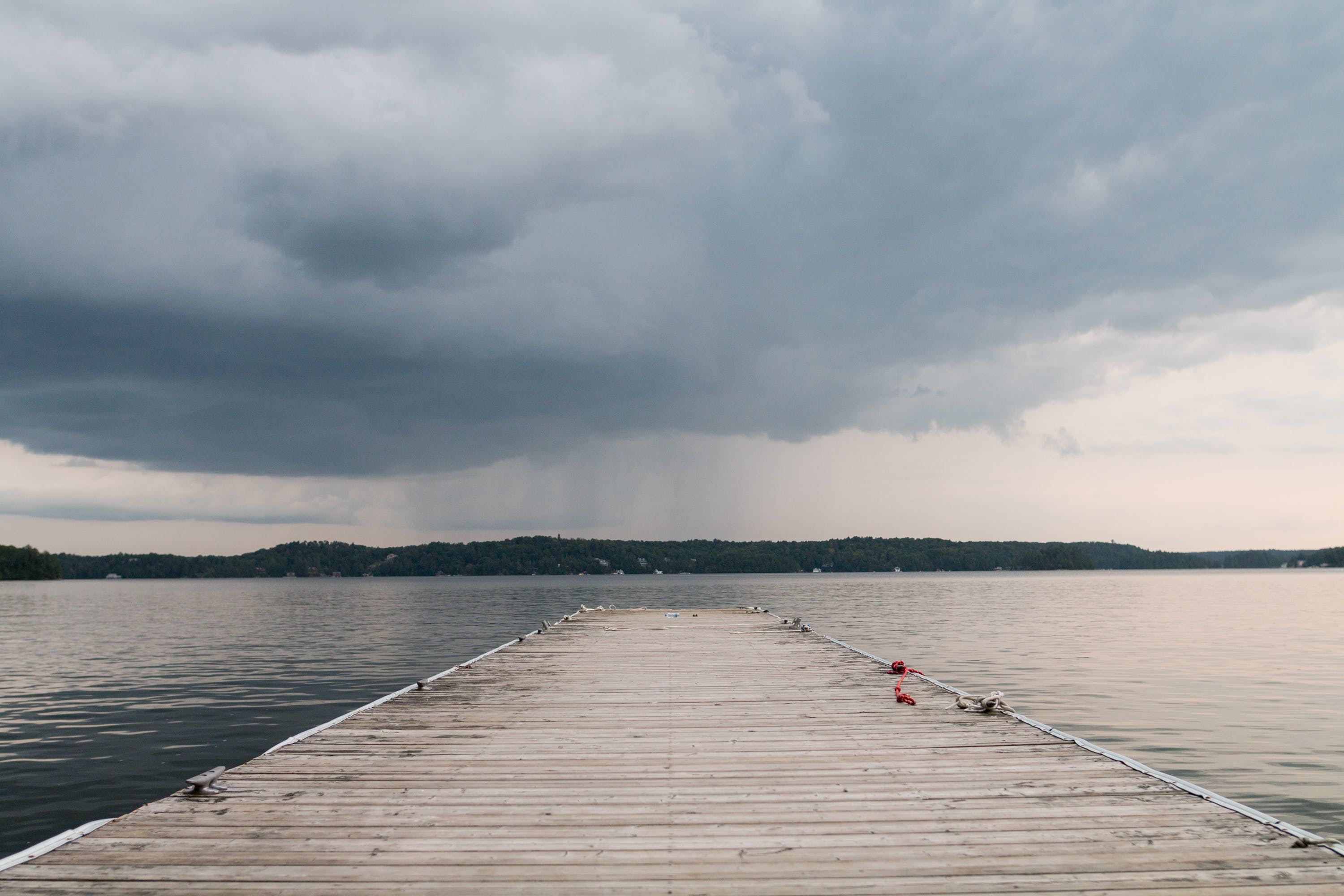 Free stock photo of canada, clouds, dock, lake
