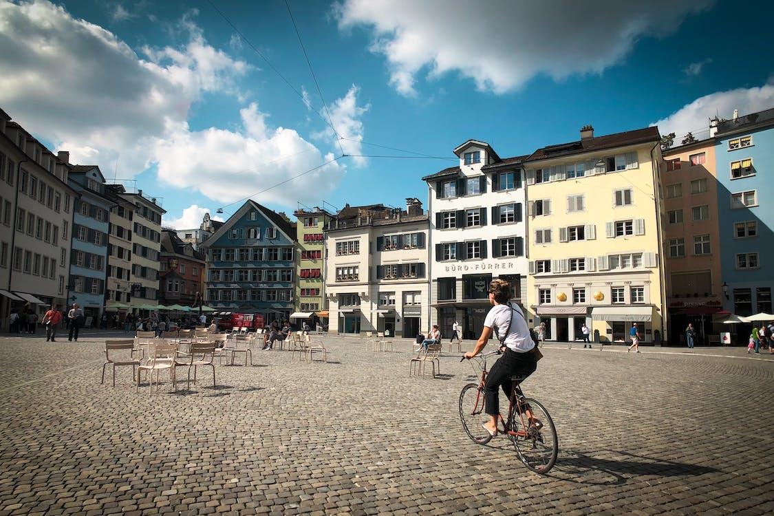 arkitektur, by, bygninger