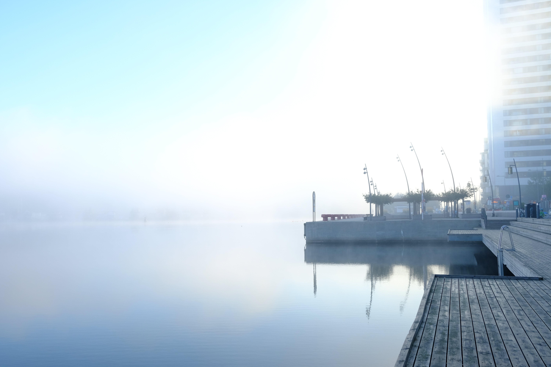 Kostenloses Stock Foto zu früher morgen, nebel, sonnenaufgang, wasser