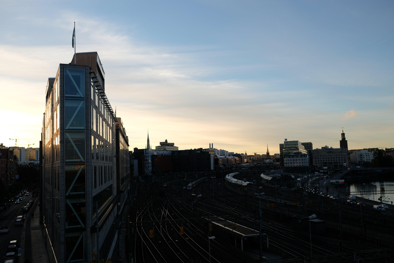 Kostenloses Stock Foto zu skyline, sonnenaufgang, stockholm