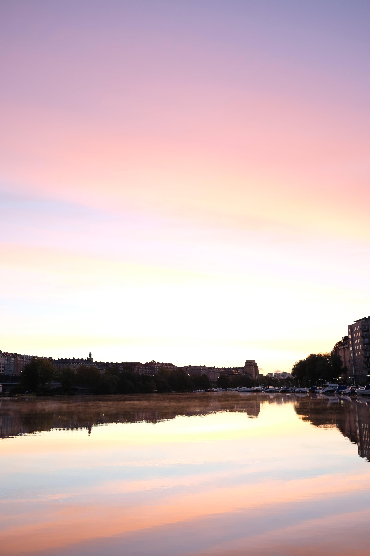 Free stock photo of water, sunrise, stockholm