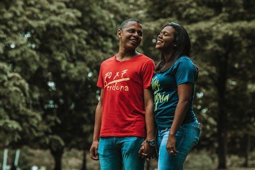 Ingyenes stockfotó afro-amerikai nő, élvezet, fekete ember, fekete nő témában