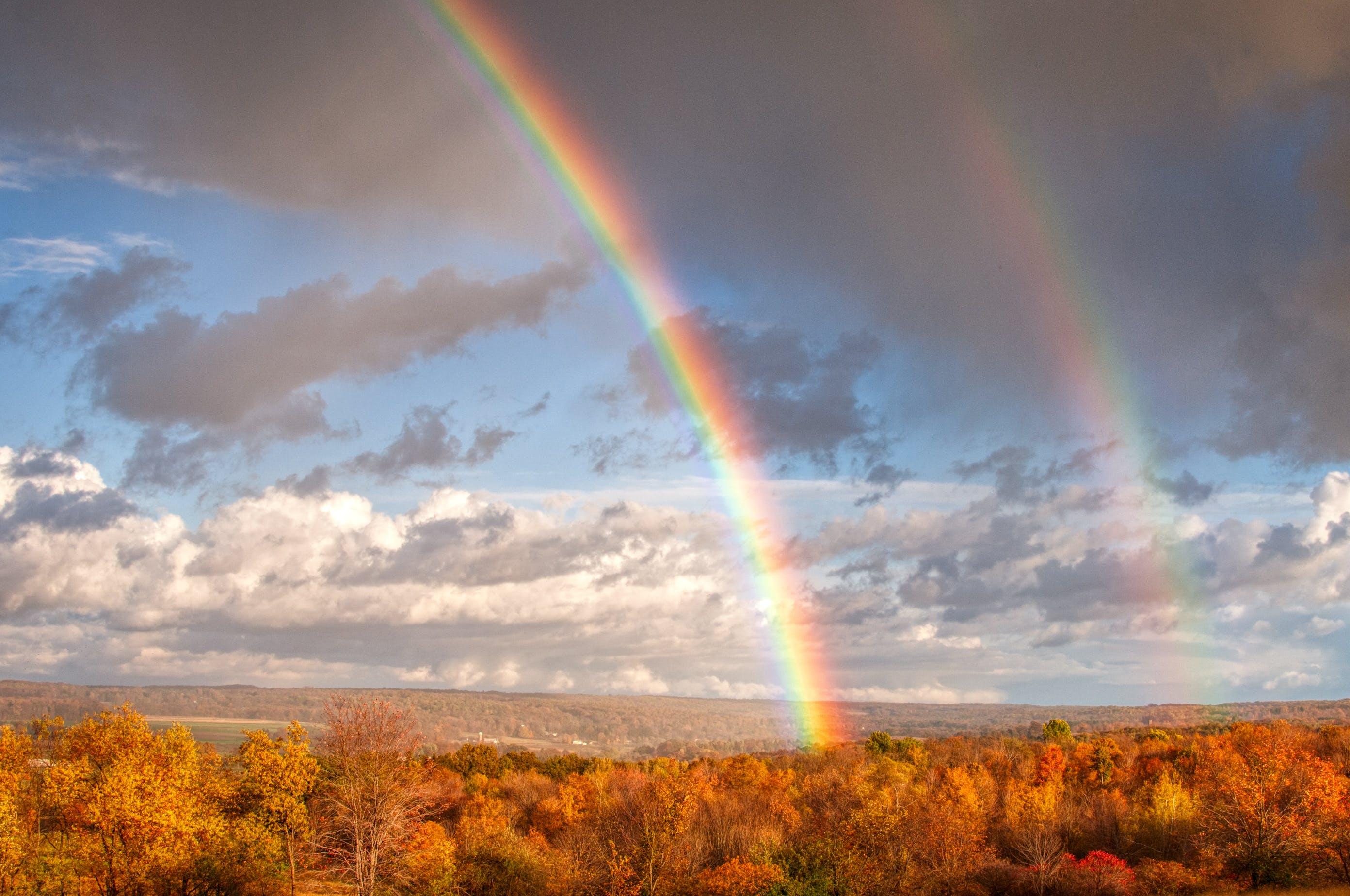 Kostenloses Stock Foto zu landschaft, himmel, wolken, herbst