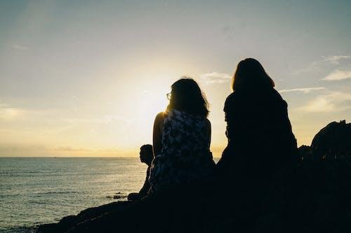 友誼, 天空, 招手, 日落 的 免费素材照片