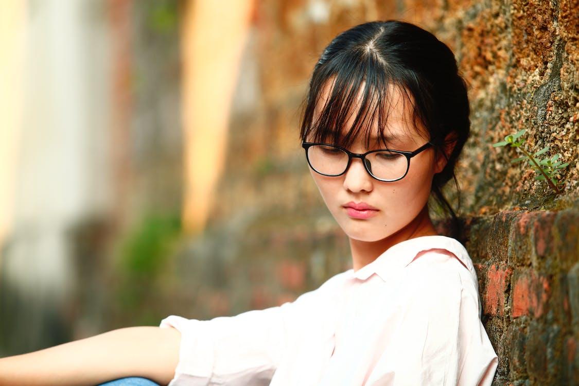 aantrekkelijk, aantrekkelijk mooi, Aziatisch meisje